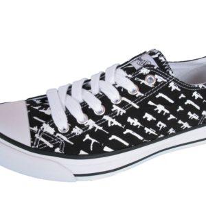 boty plátěné ROGUE STATUS - Alpha Low Gunshow Shoe - Black/White