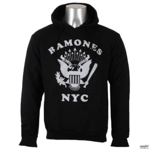 mikina pánska Ramones - Retro Eagle NYC - Black - ROCK OFF - RAHD02MB