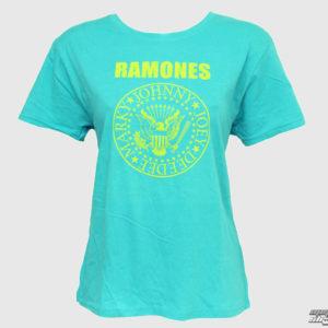 tričko dámske Ramones - Markys Seal - Bledomodrá - BRAVADO USA