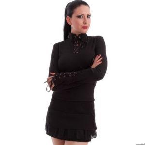 8c0ae2361a54 tričko dámske s dlhým rukávom NECESSARY EVIL – Milisha – Black – MS903